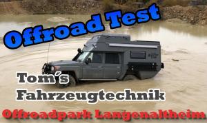 Test der Land Cruiser im Offroadpark Langenaltheim