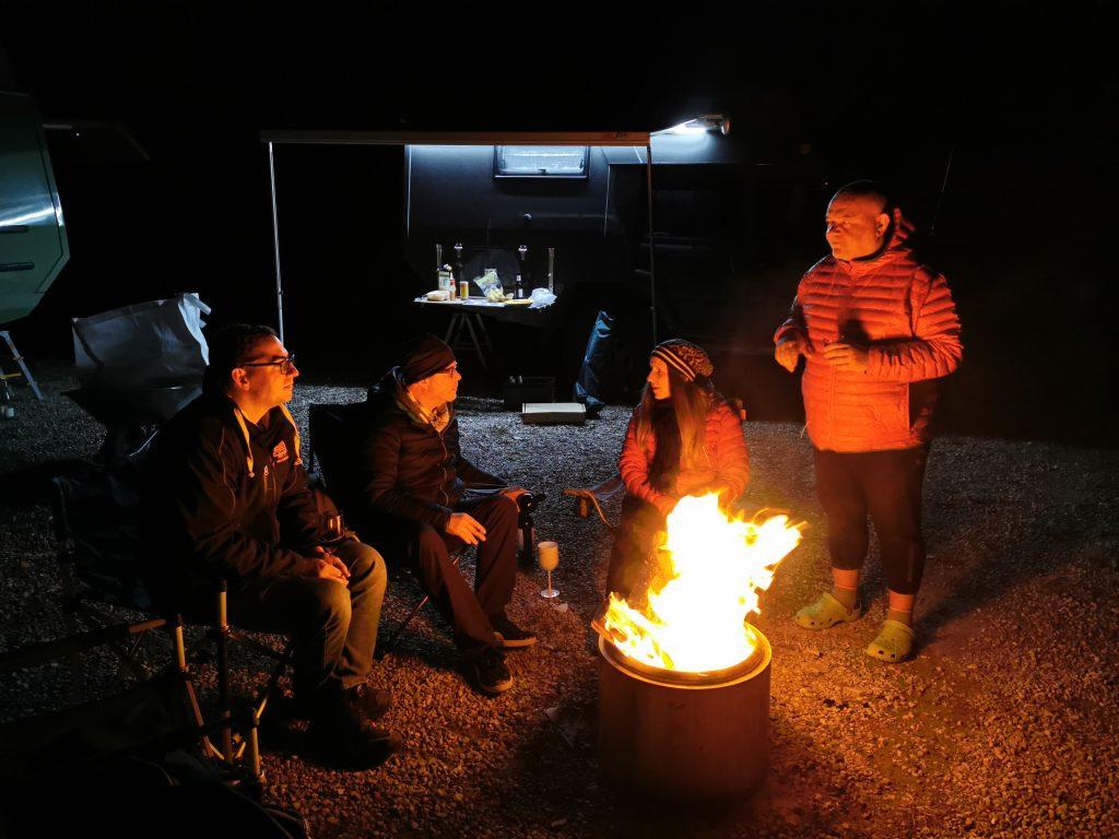 Lagerfeuer im Camp vom Offroadpark Langenaltheim