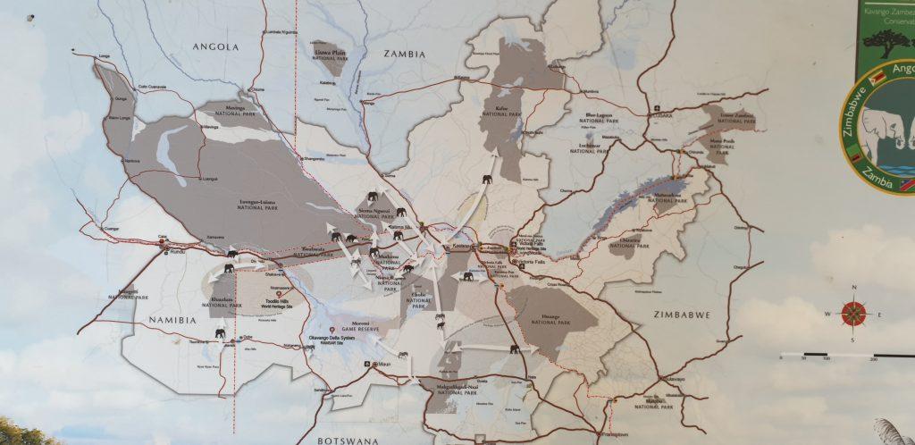 Übersichtskarte zum KAZA Naturschutzebiet